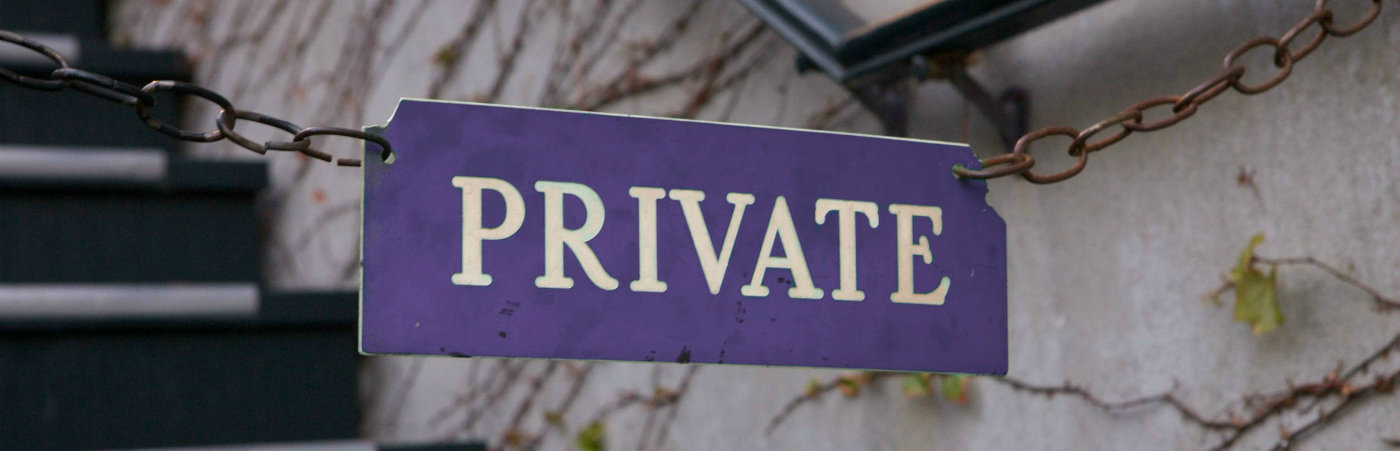 'Private' sign